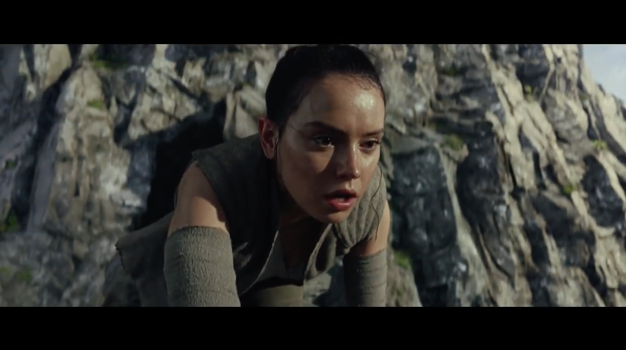 Rey from Star Wars The Last Jedi Teaser Trailer