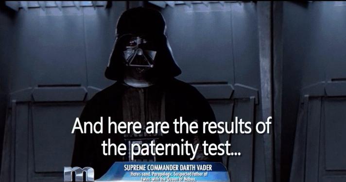 darth vader maury paternity test