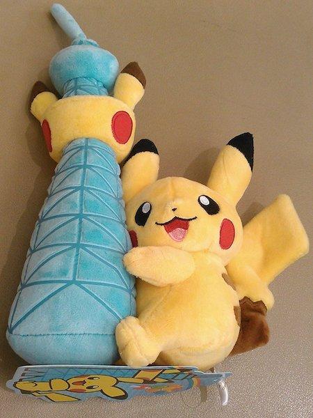 Pikachu hugging Tokyo Tower Plush