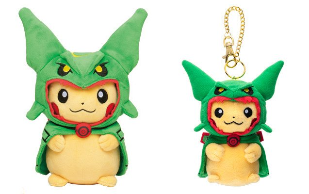 pikachu in Rayquaza poncho