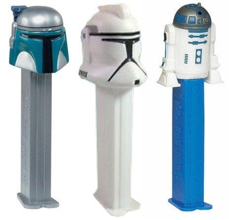 Star Wars PEZ Jango Fett, Clone Trooper, and R2-D2