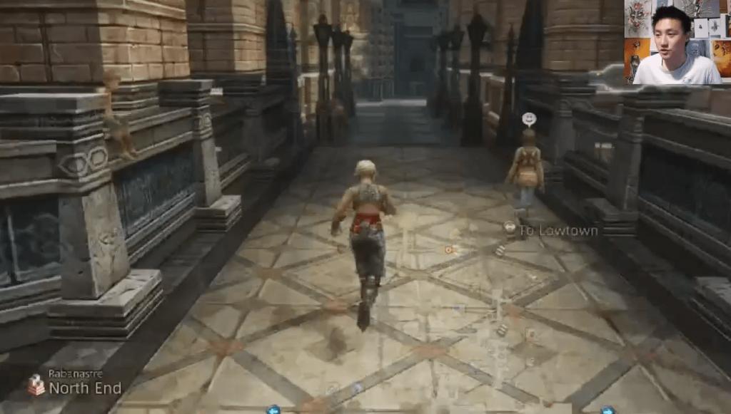 Vaan Running through dungeon in FF12