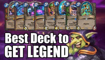 Best Hearthstone Deck to Get LEGEND with in Boomsday Expansion