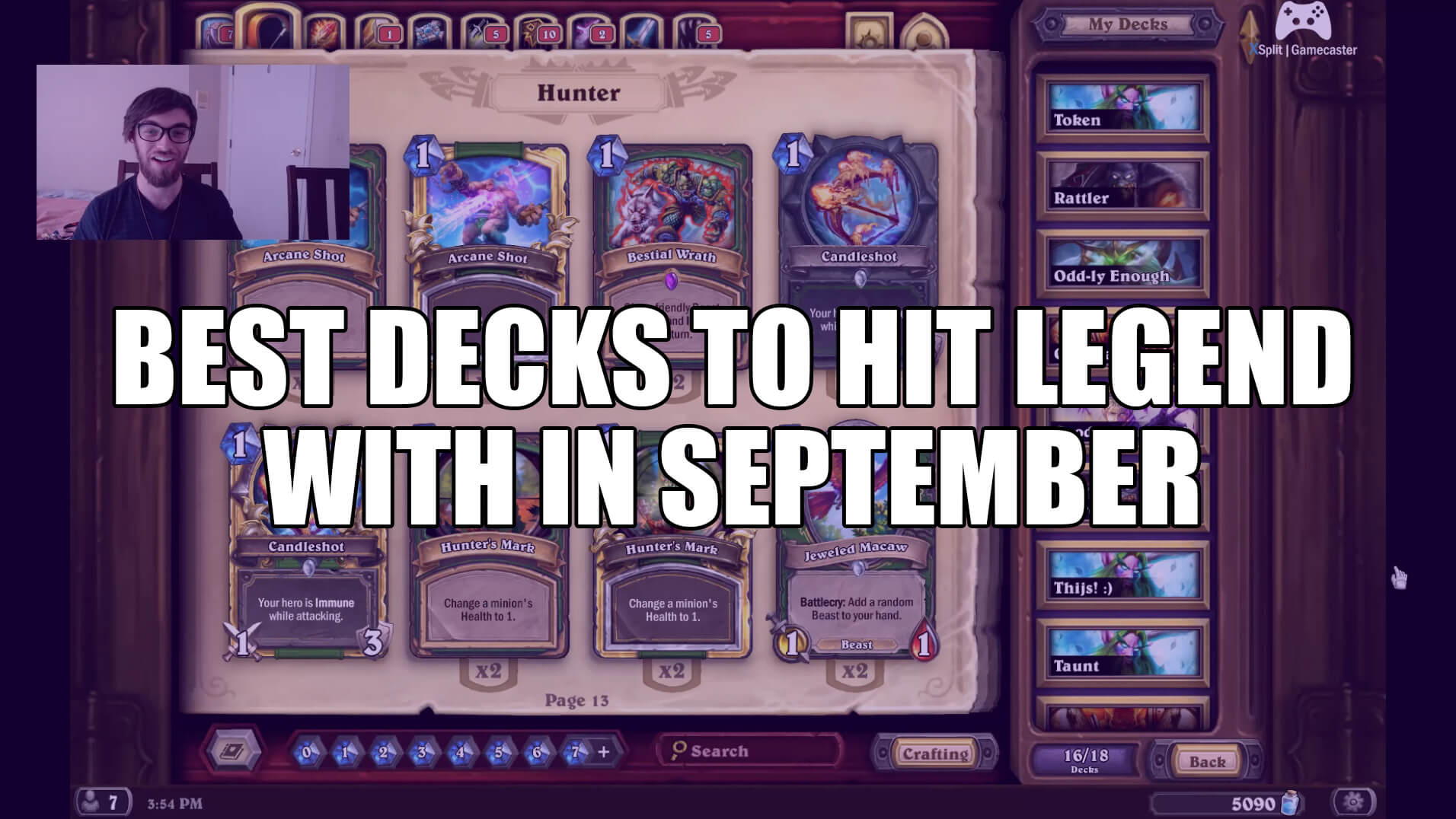 Best Hearthstone Decks to Hit Legend Rank with in September