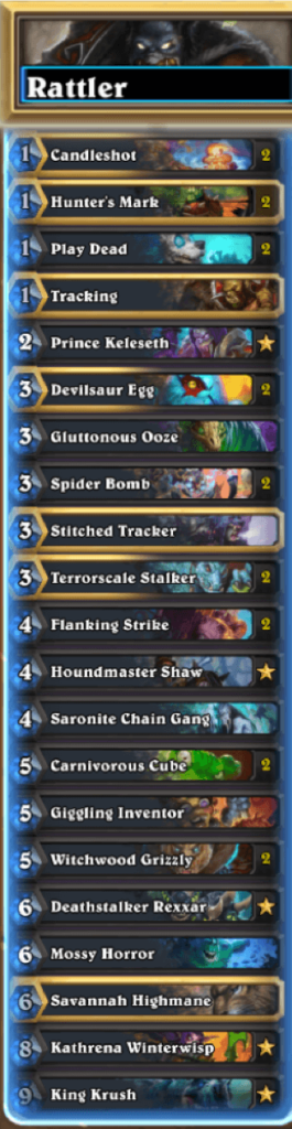 Deathrattle, Cube Hunter Mid-range Hearthstone Deck