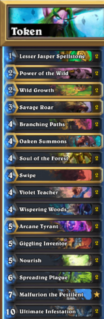 Token Druid - Control, Late Game Deck